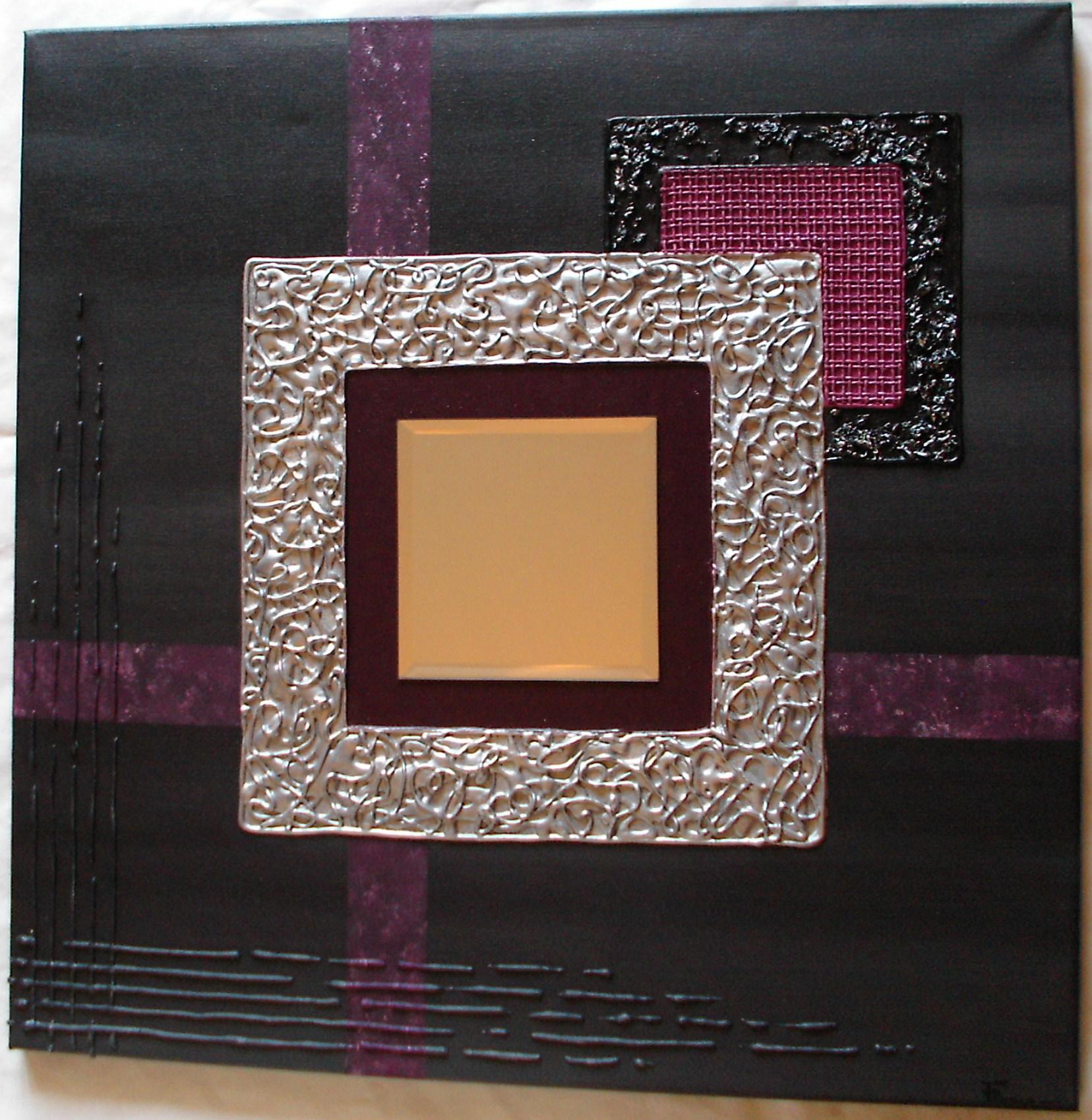 Peinture relief paxia fran oise peintures cubes for Miroir reflet sens 50