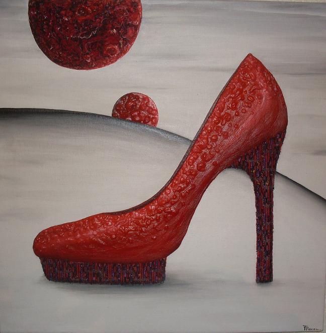Peinture relief paxia fran oise 2013 sous le signe for Salon de la chaussure