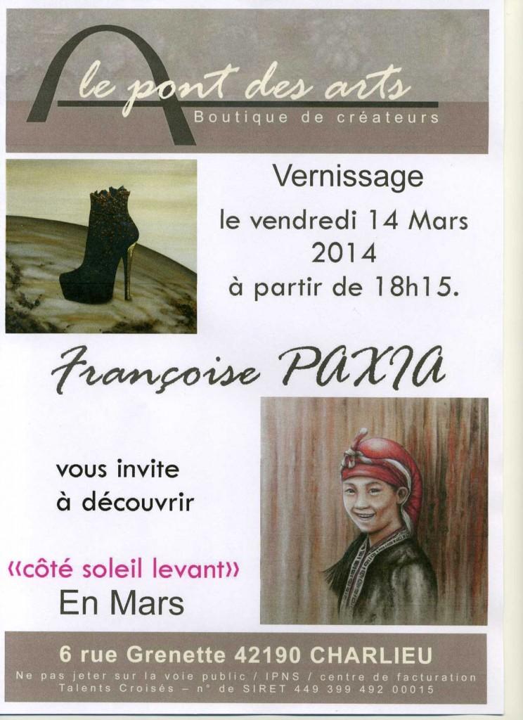 Exposition PAXIA Françoise Le Pont des Arts à Charlieu